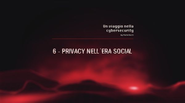 Privacy nell'era dei Social Network